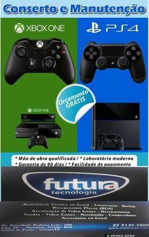 Assistência técnica video game ps2-ps3-ps4-xbox360-xboxone