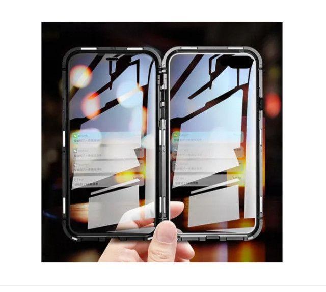 Capa Magnetica iphone xs max (9 plus) / vidro Frente Verso - Foto 2