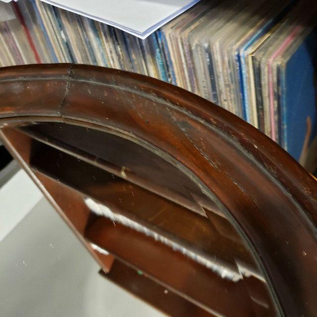 Espelho bisotê estilo Sérgio Rodrigues em madeira Jacarandá.  - Foto 3