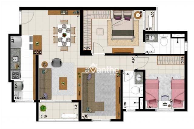 Apartamento com 3 dormitórios à venda, 74 m² por R$ 317.000 - Santa Isabel Zona Leste - Te - Foto 11
