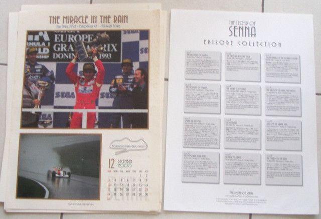 Calendário Fotografico Ayrton Senna 2000 Original Antiguidade Colecionavel - Foto 2