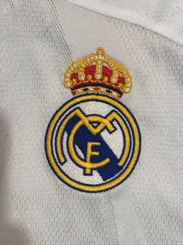 Camiseta de Time Padrão Shopping do Real Madri - Foto 2