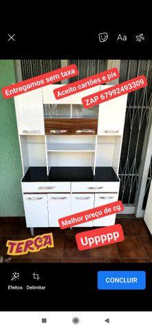 Armário de cozinha 8 portas 2 gavetas direto da fábrica