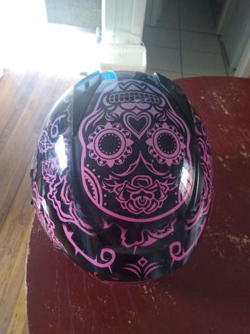 Capacete Peels Feminino Icon Sweet Skull  Com Viseira Interna