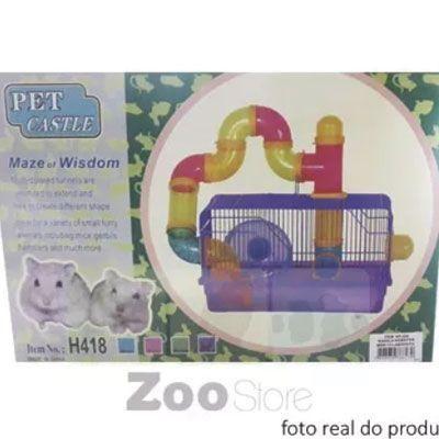 Gaiola Hamster Labirinto Roxo