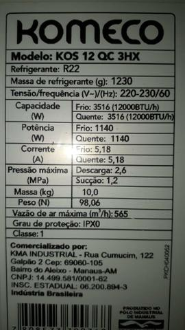 Ar condicionado 12 btus - quente e frio - Foto 4