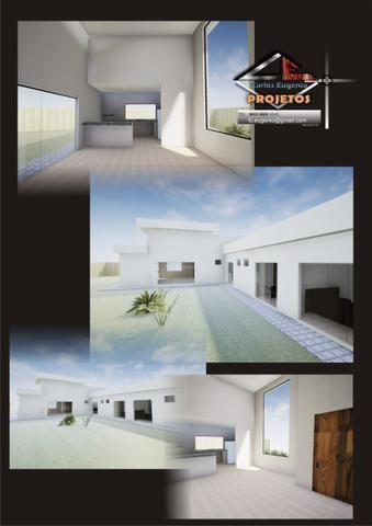 Maravilhosa casa 3 suítes, 2 garagens cobertas, condomínio estância Quintas da alvorada