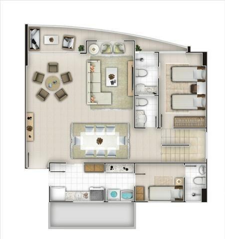 (ELI46095) Apartamento Duplex no Cocó 165m², 3 Suites, Todo Projetado, 3 Vagas - Foto 10