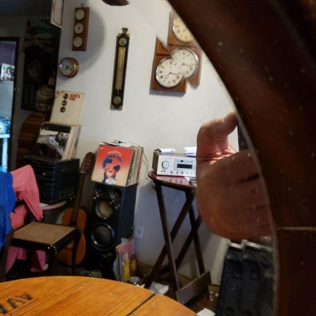 Espelho bisotê estilo Sérgio Rodrigues em madeira Jacarandá.  - Foto 2