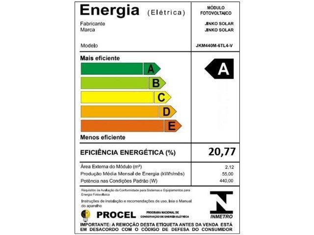 Kit Gerador Solar R$400,/mês Economia de Luz. 3,6kwp-8 Placas 450w - Foto 4