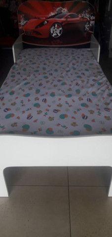 Mini cama carros com colchao - Foto 2