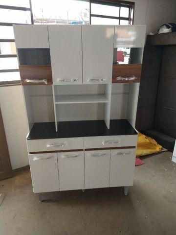 Armário de cozinha 8 portas 2 gavetas direto da fábrica  - Foto 5