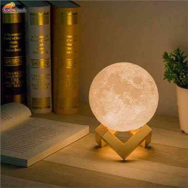 Luminária Lua Cheia 3D Troca de Co - Foto 4