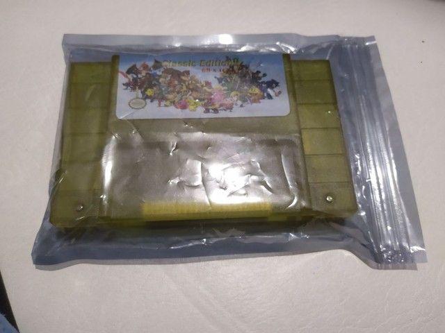 Fita cartucho nova pra console vídeo game super Nintendo 68 jogos  - Foto 3