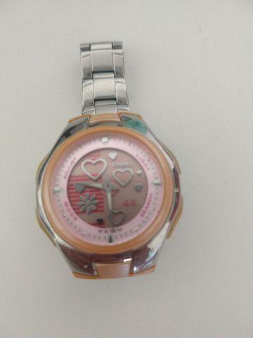 Relógio Casio Feminino Lcf-10 D-4a 5 Alarmes Crono Wr50 Rosa