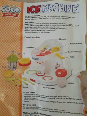 NoMáquina de sorvete infantil - Foto 3