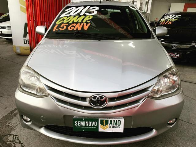 (Junior Veículos)Toyota Etios Sedan Xs 1.5 Completo+Gnv - Foto 2