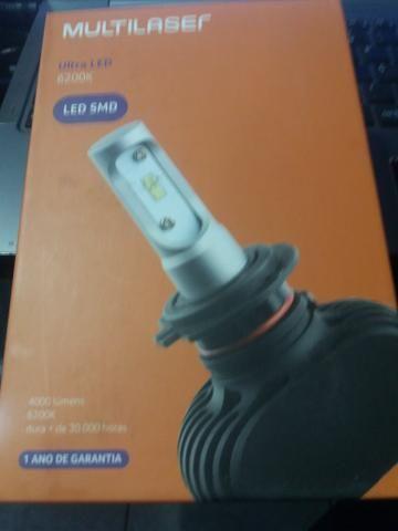 Led ultra led h3 Multilaser nova na caixa garantia instalado - Foto 2