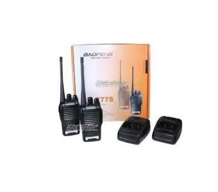 Kit 2 Radio Comunicador Walk Talk Baofeng 777s Profissional - Foto 5