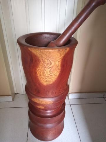 Socador madeira Pilão 75 cm altura - Foto 3