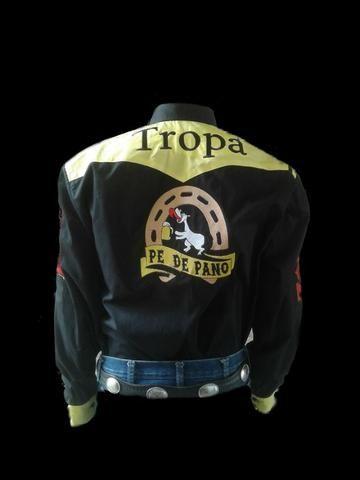 Camisa Personalizada Comitiva Cavalgada Rodeio Montaria Queima do Alho - Foto 4