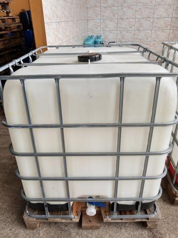 Contêiner de 1000 LT completo para água de reúso, combustível - Foto 3