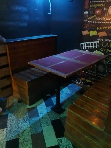 Jogo de mesas e banco corrido - Foto 2