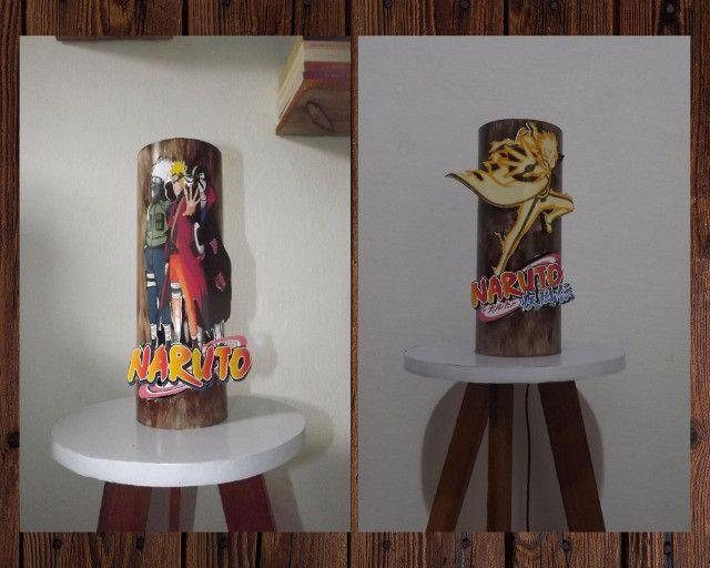 Luminárias artesanal Naruto (Modelos 1 e 2)
