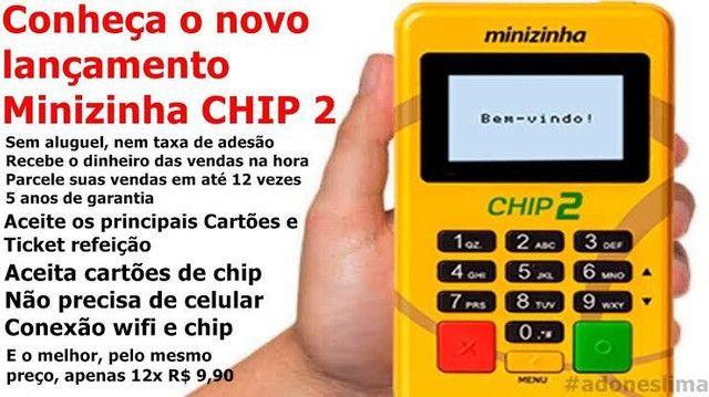 Máquininha de cartão com Chip 2 - Foto 2