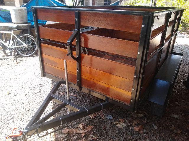 2 eixos, emplacado, madeira IPÊ - Foto 2