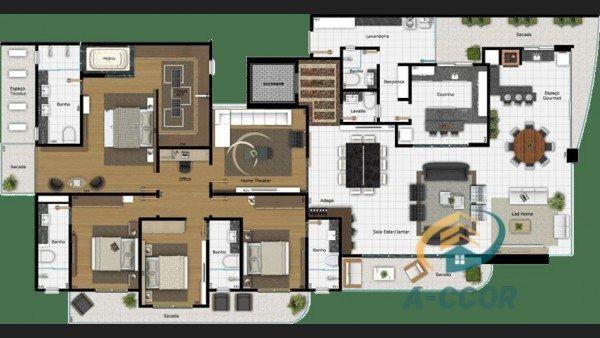 Apartamento Alto Padrão para Venda em Oficinas Ponta Grossa-PR - Foto 4