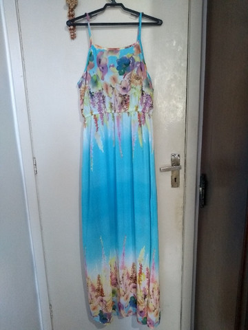 Vestido Longo Estampa 3D - Foto 2