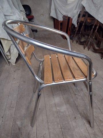 Cadeiras Alumínio e Madeira - Foto 3