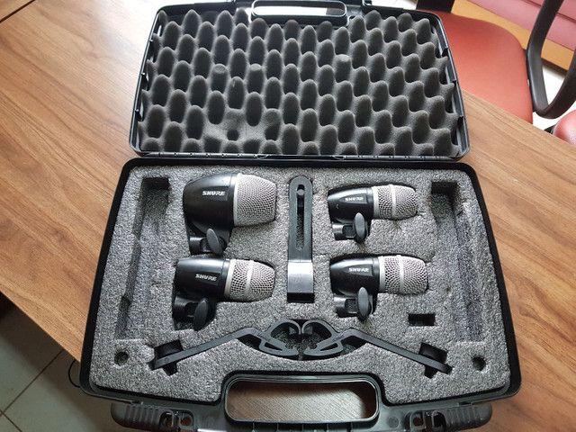 Microfone Shure para bateria