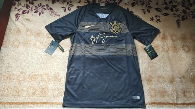 Nova Camisa Original Oficial Corinthians Ayrton Senna 2018 2019 ... 9b4f3e5421ea0