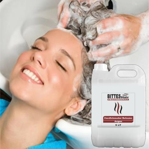 Shampoo Hidratante e Condicionador Balsamo Argan 5 litros Bittes Hair - Foto 2