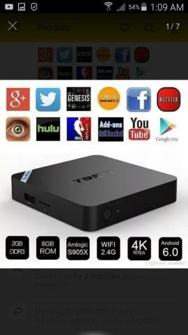 Tv Box T95N Transforme numa Smart Tv, 2 Ram e 8 Gb de espaço.