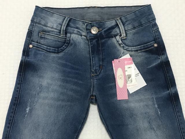 Calça jeans flaire menina Tam 14 - Foto 2