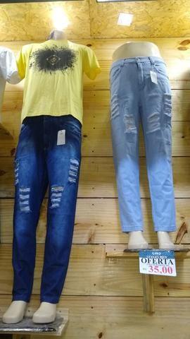 7724026c374a8b Calças jeans masculina 100% algodão Detonada(leia o anúncio)
