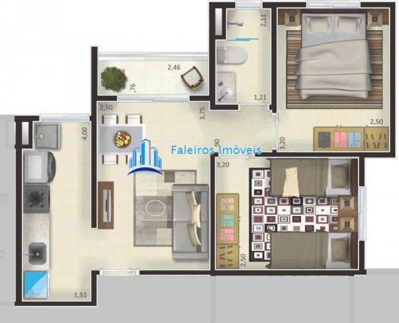Apartamento de 1 e 2 dormitórios , com sacada e lazer - Apartamento em Lançament... - Foto 12