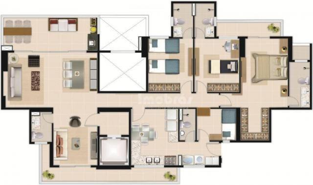 Absoluto Cocó, Apartamento com 3 dormitórios à venda, 158 m² por R$ 1.450.000 - Cocó - For - Foto 17