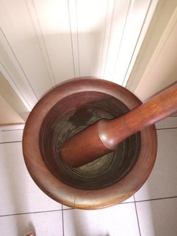 Socador madeira Pilão 75 cm altura - Foto 2