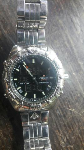 Relogio citizen wr 100 cronograph mascara nega - Foto 6