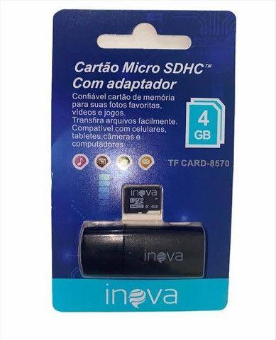 Cartão De Memória Micro Sd 4gb Inova - Foto 4