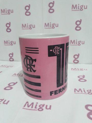 Caneca do Flamengo rosa Caneca personalizada do Flamengo rosa / xícara caneca porcelana - Foto 4