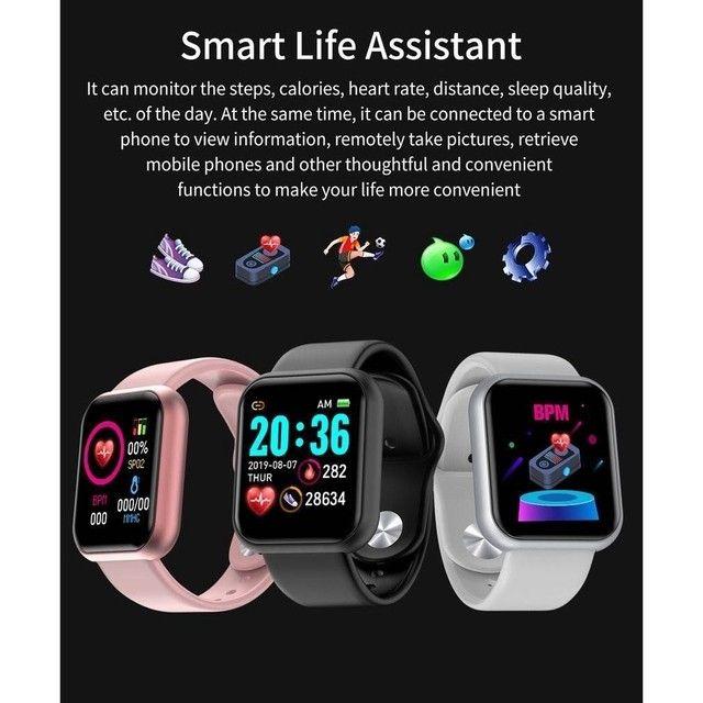 Y68 D20 Relógio Smart Watch com Bluetooth USB com Monitor Cardíaco - Foto 4