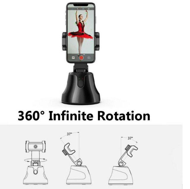 Smart Selfie Gimbal Stick Rotação De 360 Graus - Foto 6