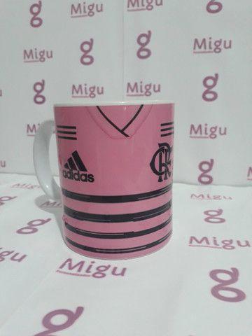 Caneca do Flamengo rosa Caneca personalizada do Flamengo rosa / xícara caneca porcelana - Foto 3