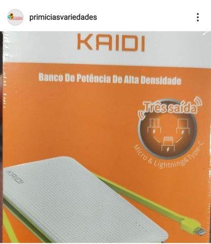 Carregador Portátil Power Bank 10.000mah Kaidi KD-956 3 Saídas  - Foto 3