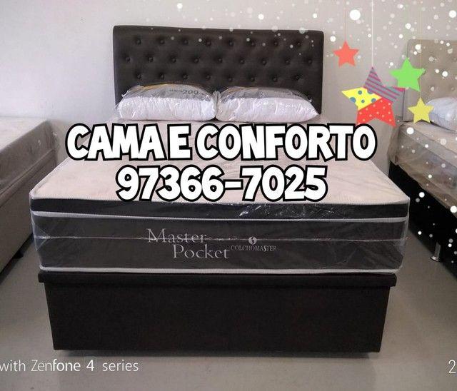 CAMA BOX ( ENTREGA GRÁTIS ) PAGAMENTO EM ATÉ 10 X. - Foto 3